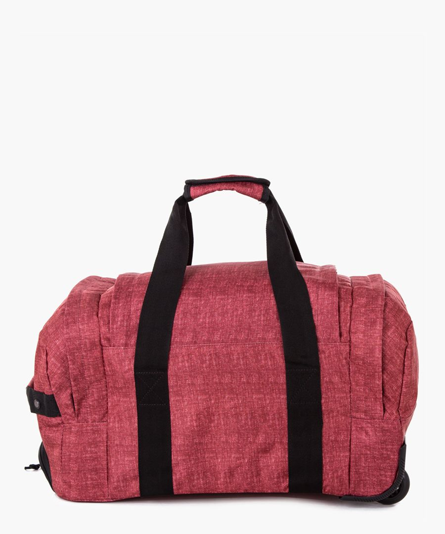 Red cabin spinner suitcase