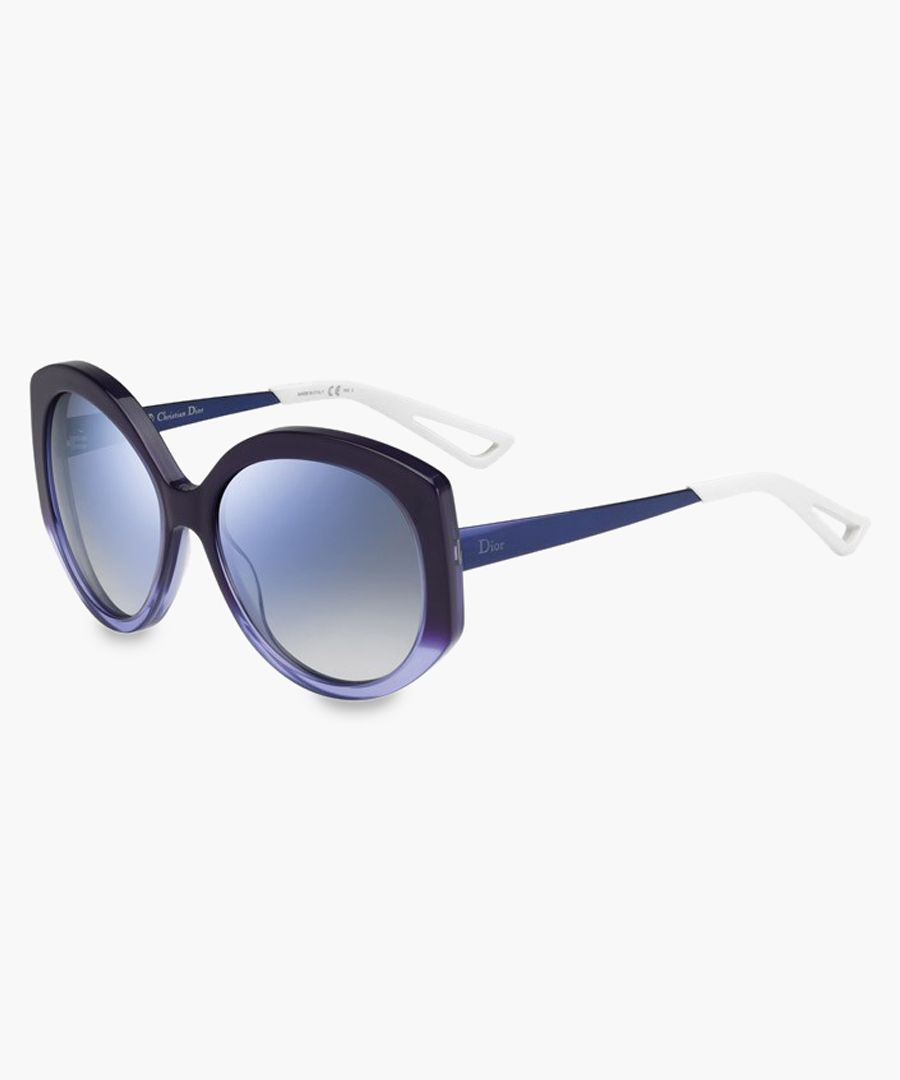 Extase violet and sky oversized sunglasses