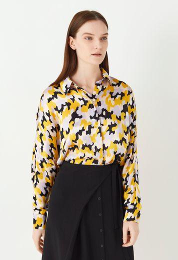 Eris Printed Satin Shirt - Multi
