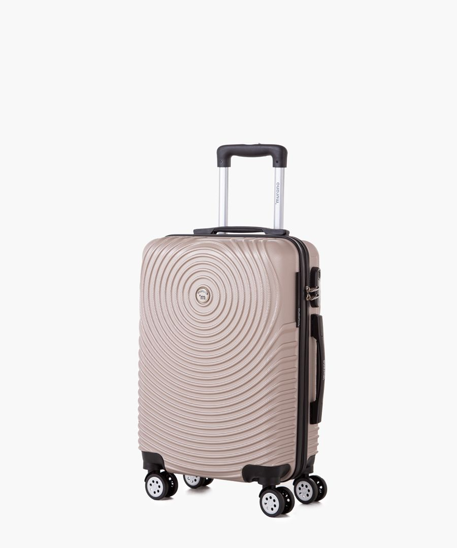 Gold-tone cabin spinner suitcase