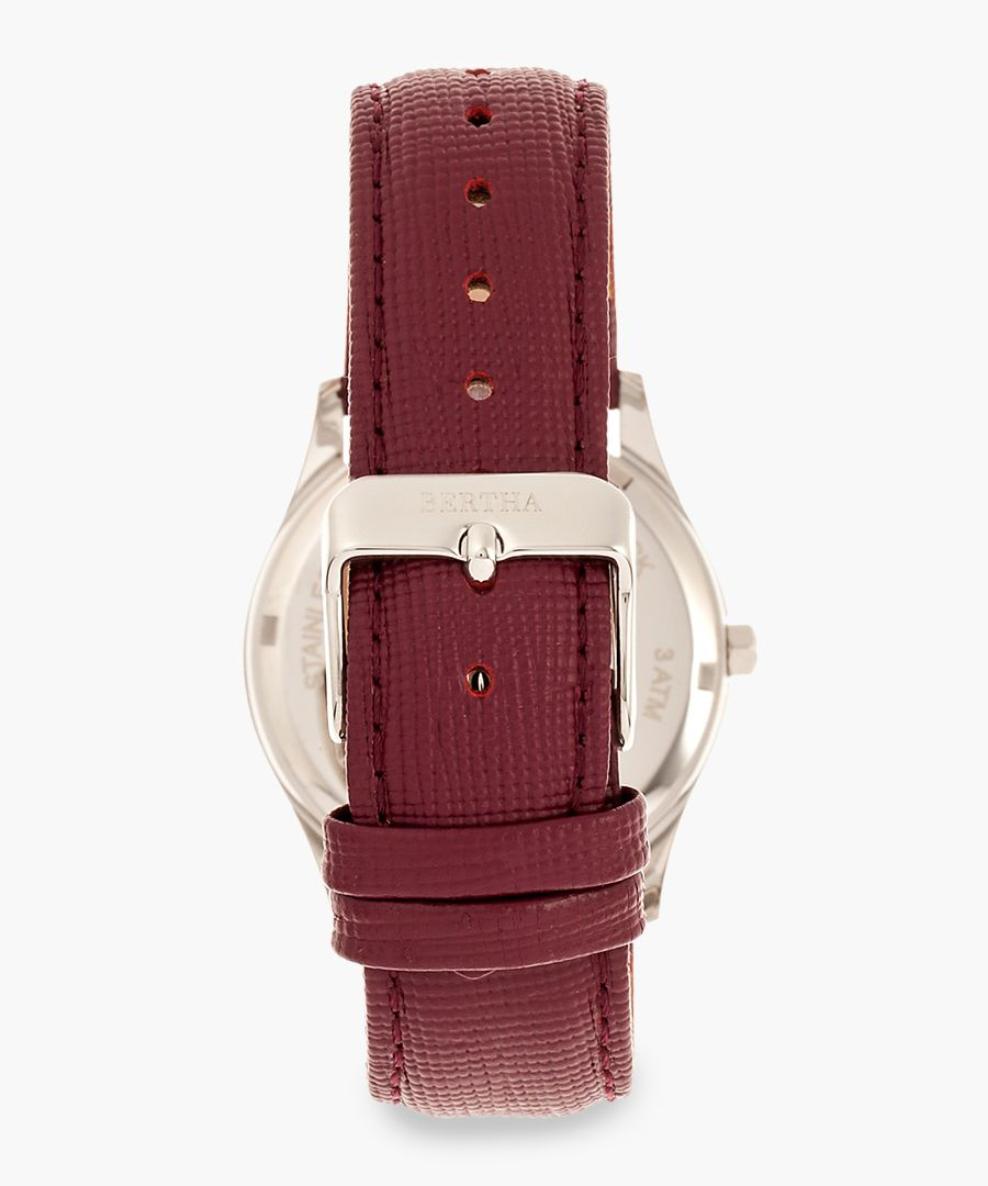 Sadie burgundy watch