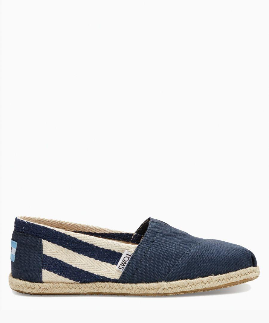 Alpargata navy canvas shoes