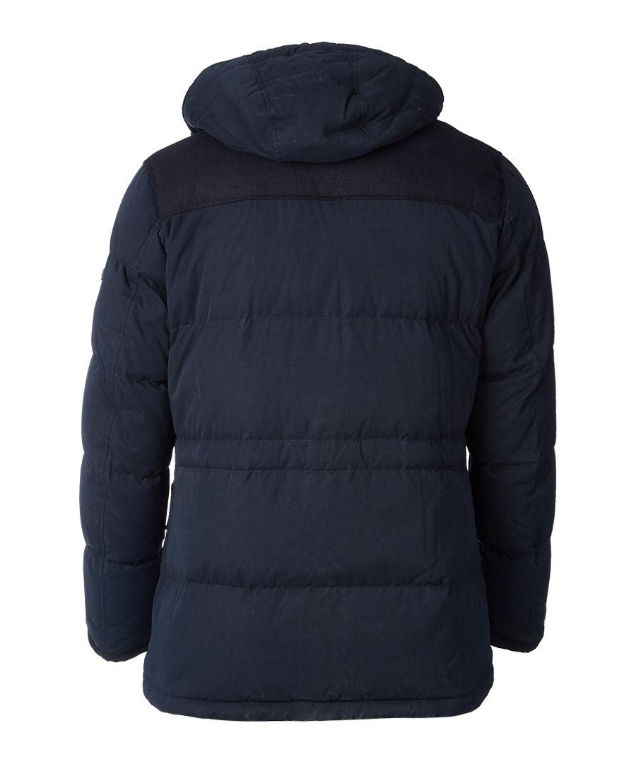 Navy hooded country parka