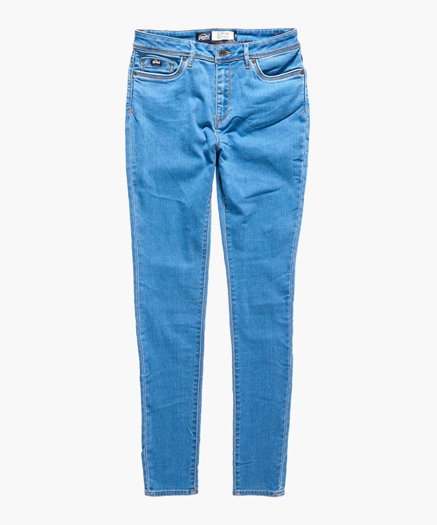 Sophia blue cotton blend high-waist super skinny jeans