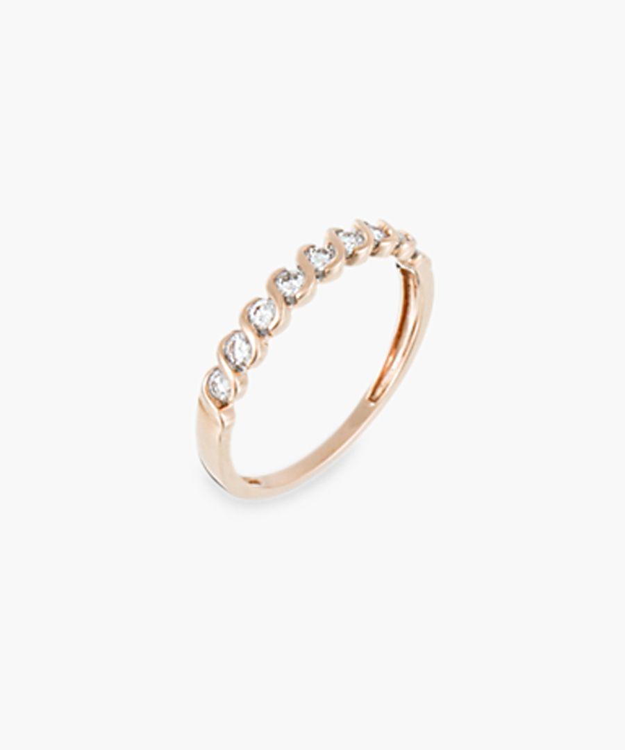 Alliance Slalom 9k white gold 0.25ct diamond ring