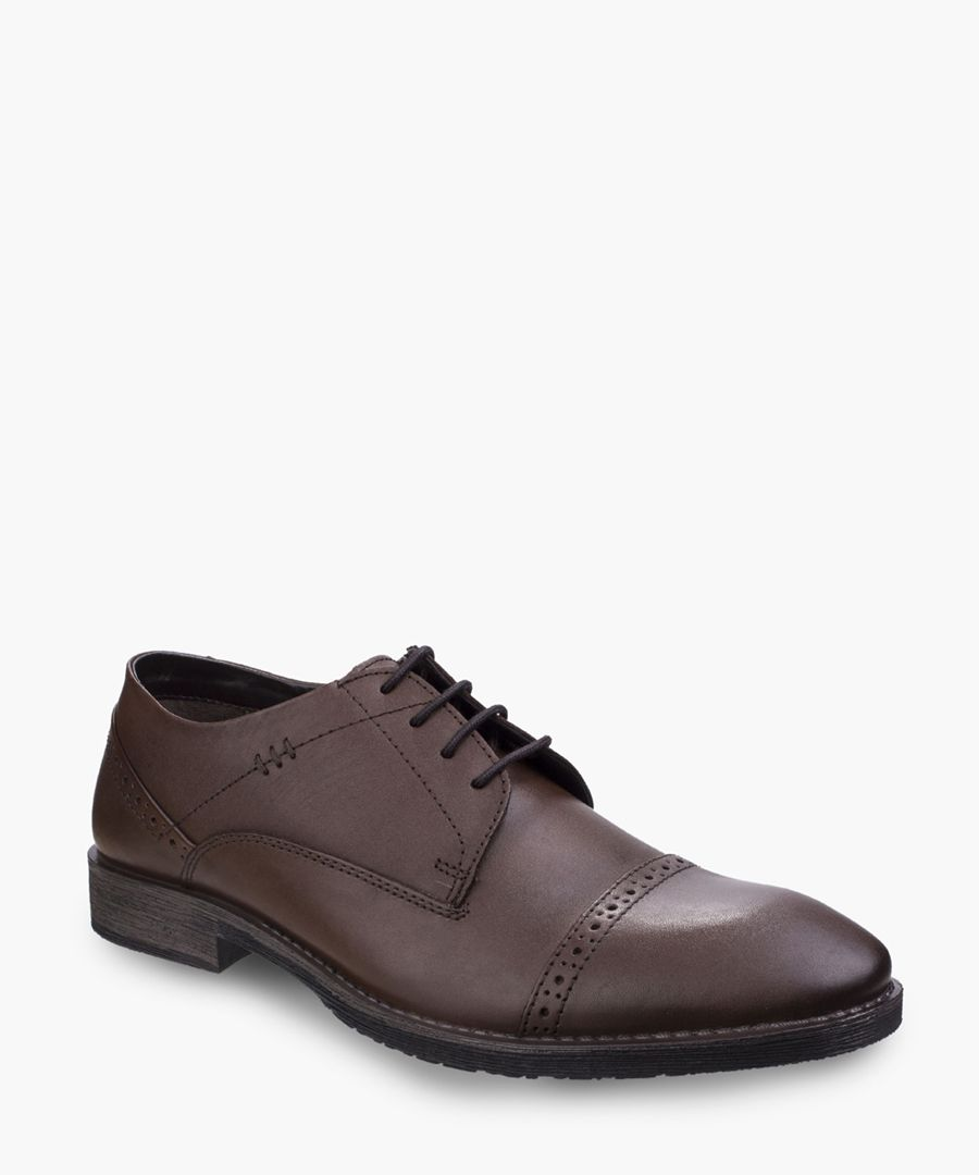 Mens brown derby shoes