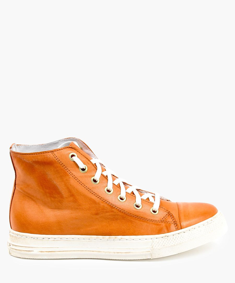 Orange trainers