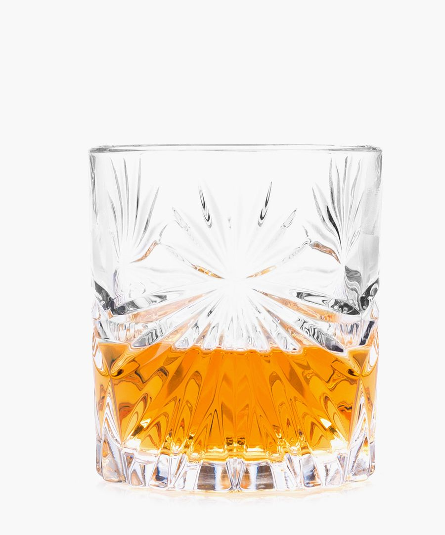 Oasis Crystal Short whisky water tumblers glasses 320ml