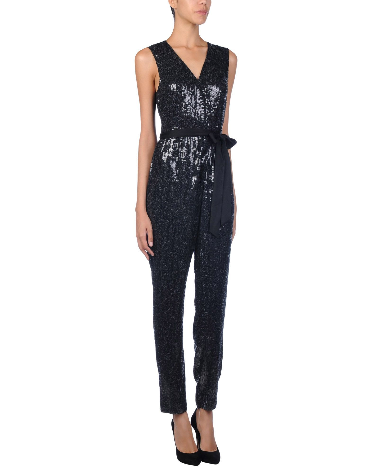 Diane Von Furstenberg Black Silk Jumpsuit