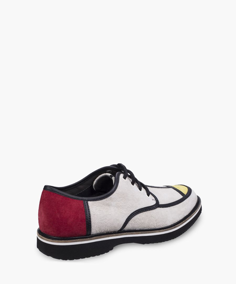 Mens multi-coloured Oxford shoes
