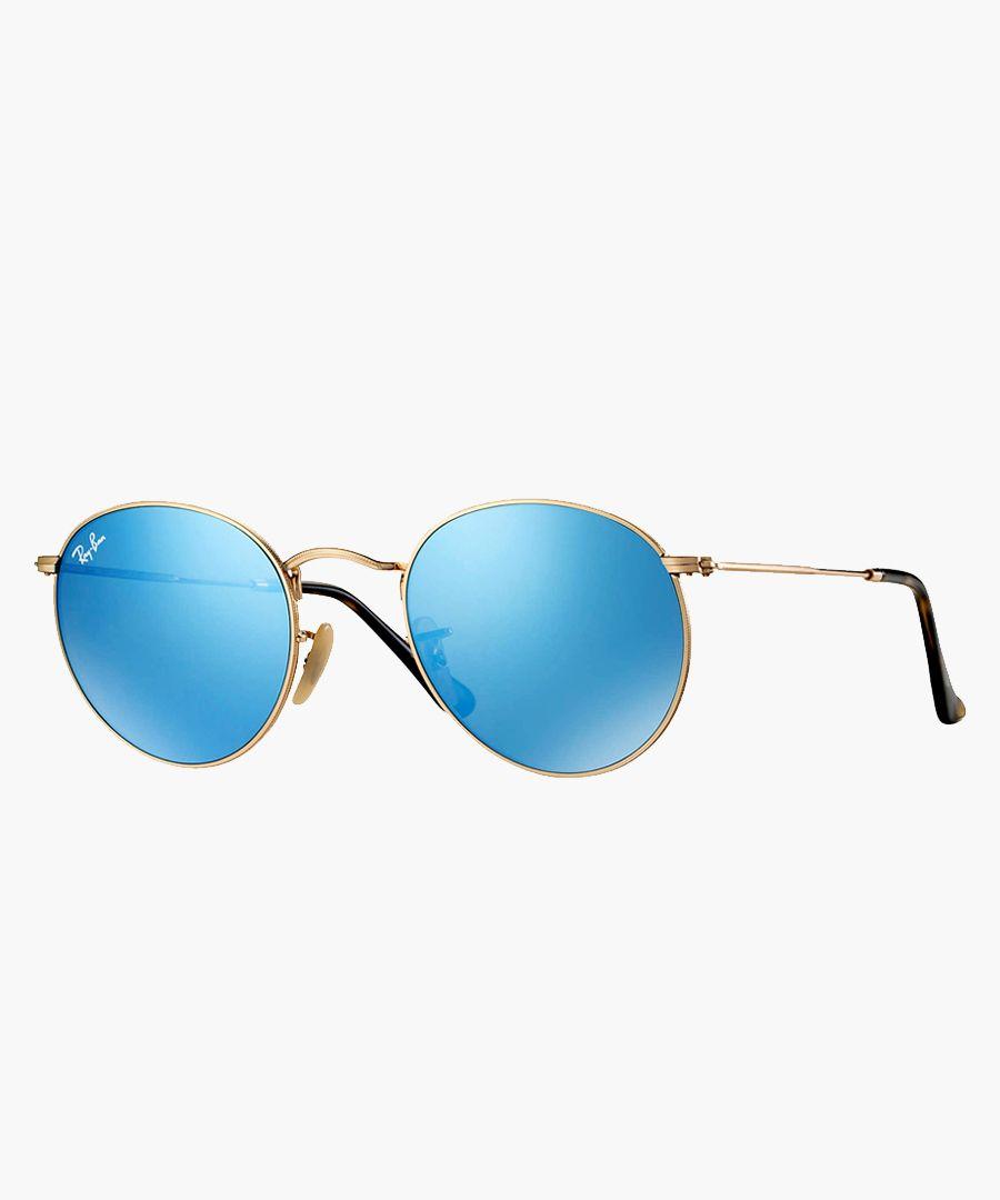 Round Metal gold-tone sunglasses