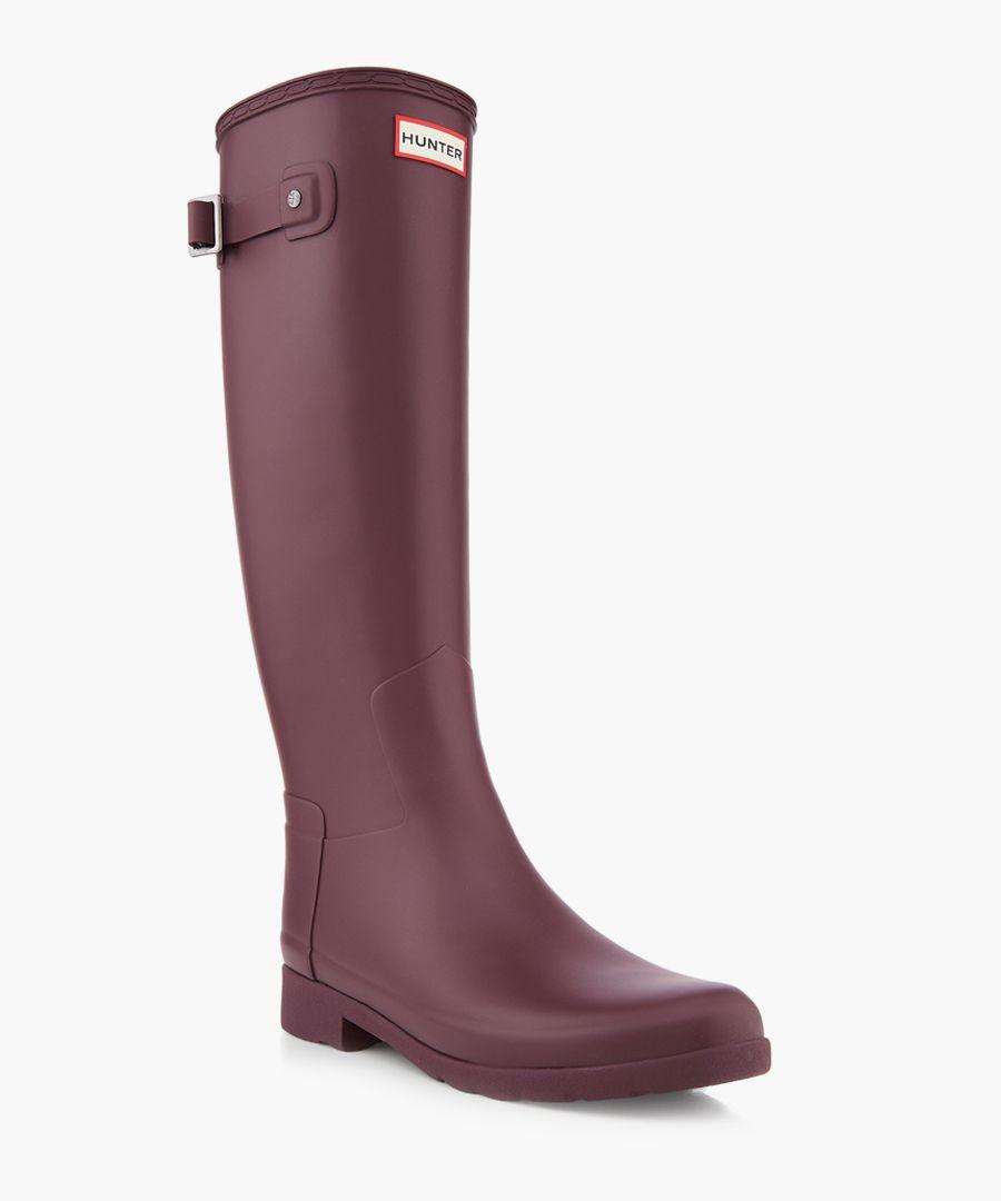 Women's refined oxblood Wellington boots