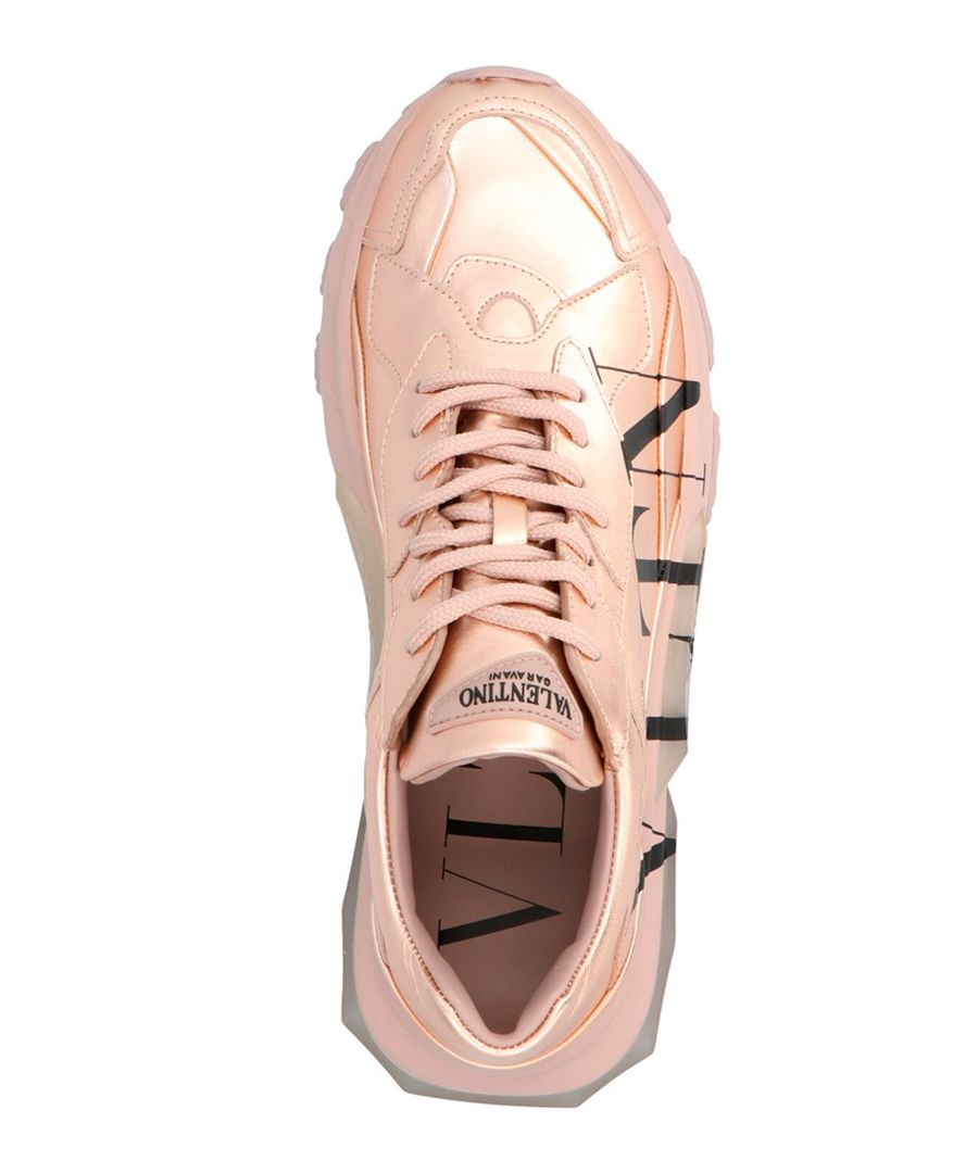 Bounce gold-tone logo trainers
