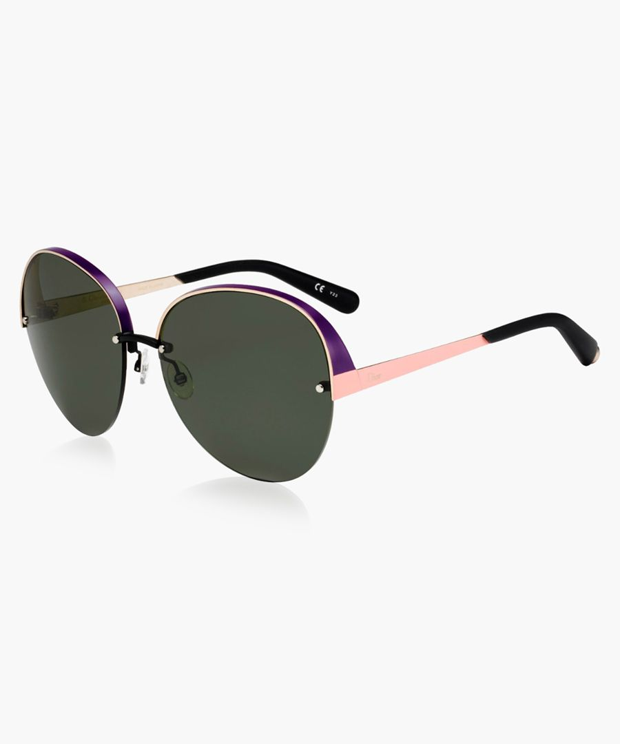 Rose gold-tone sunglasses
