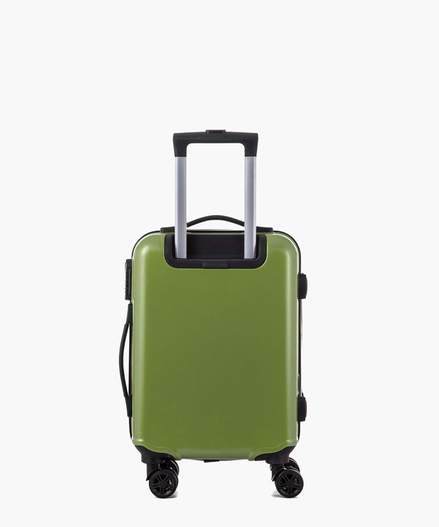 Green cabin spinner suitcase