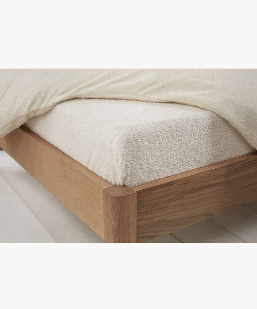 Cream king teddy fitted sheet