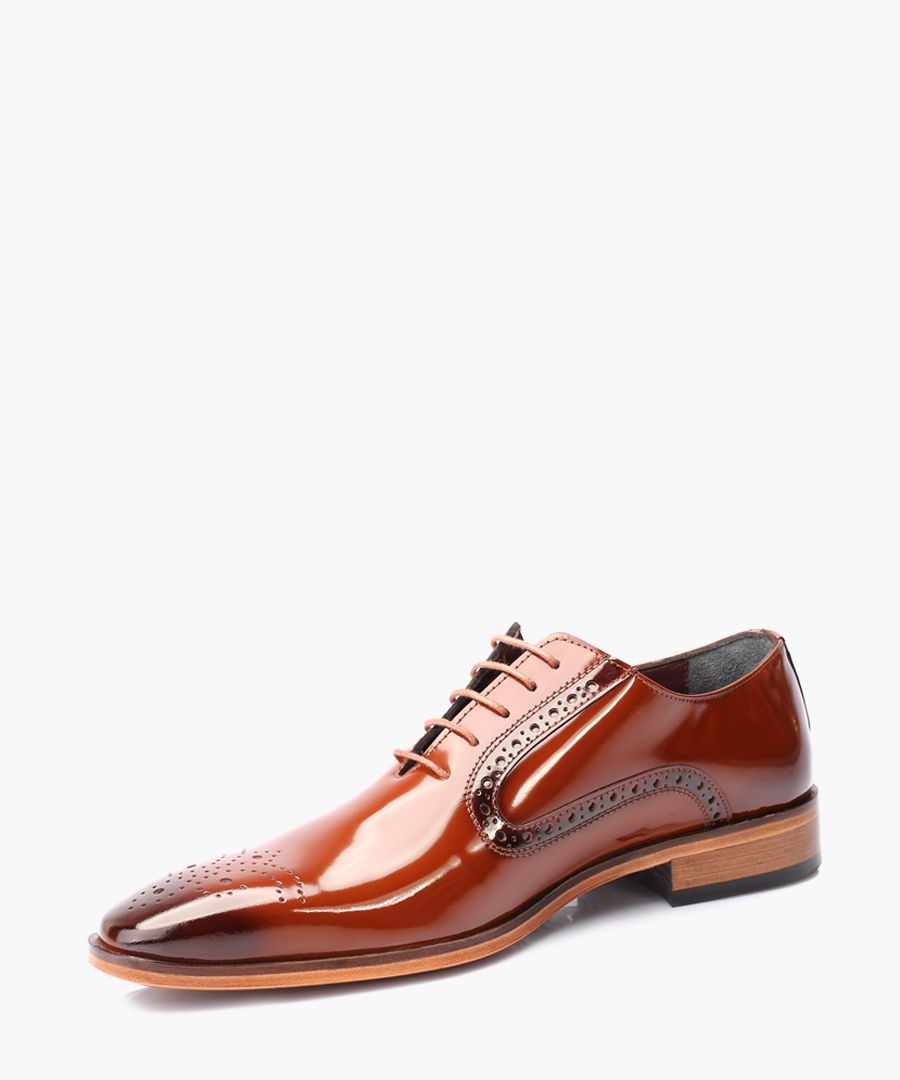 Tan leather Derby shoes