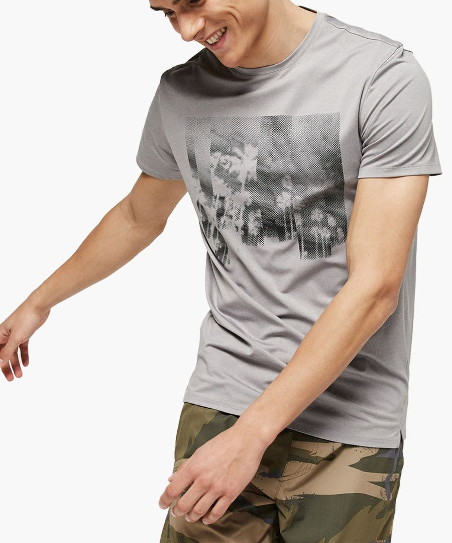 Grey graphic T-shirt