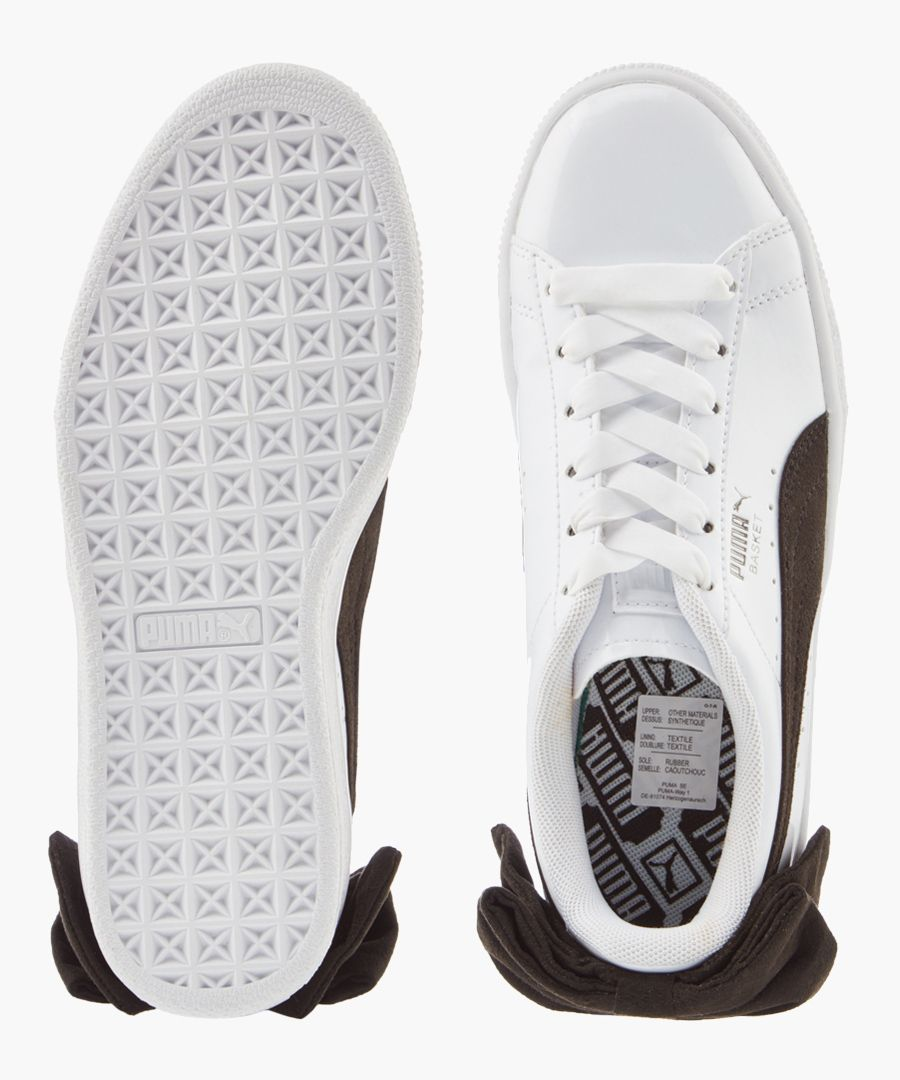 Basket Bow white leather trainers