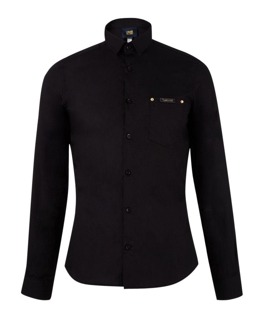 Black pure cotton long sleeve top