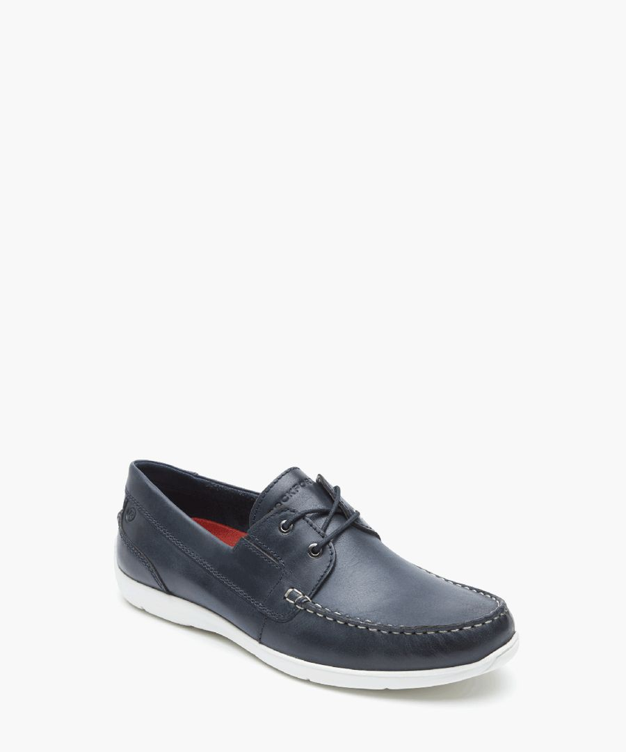 Cullen black leather boat shoes