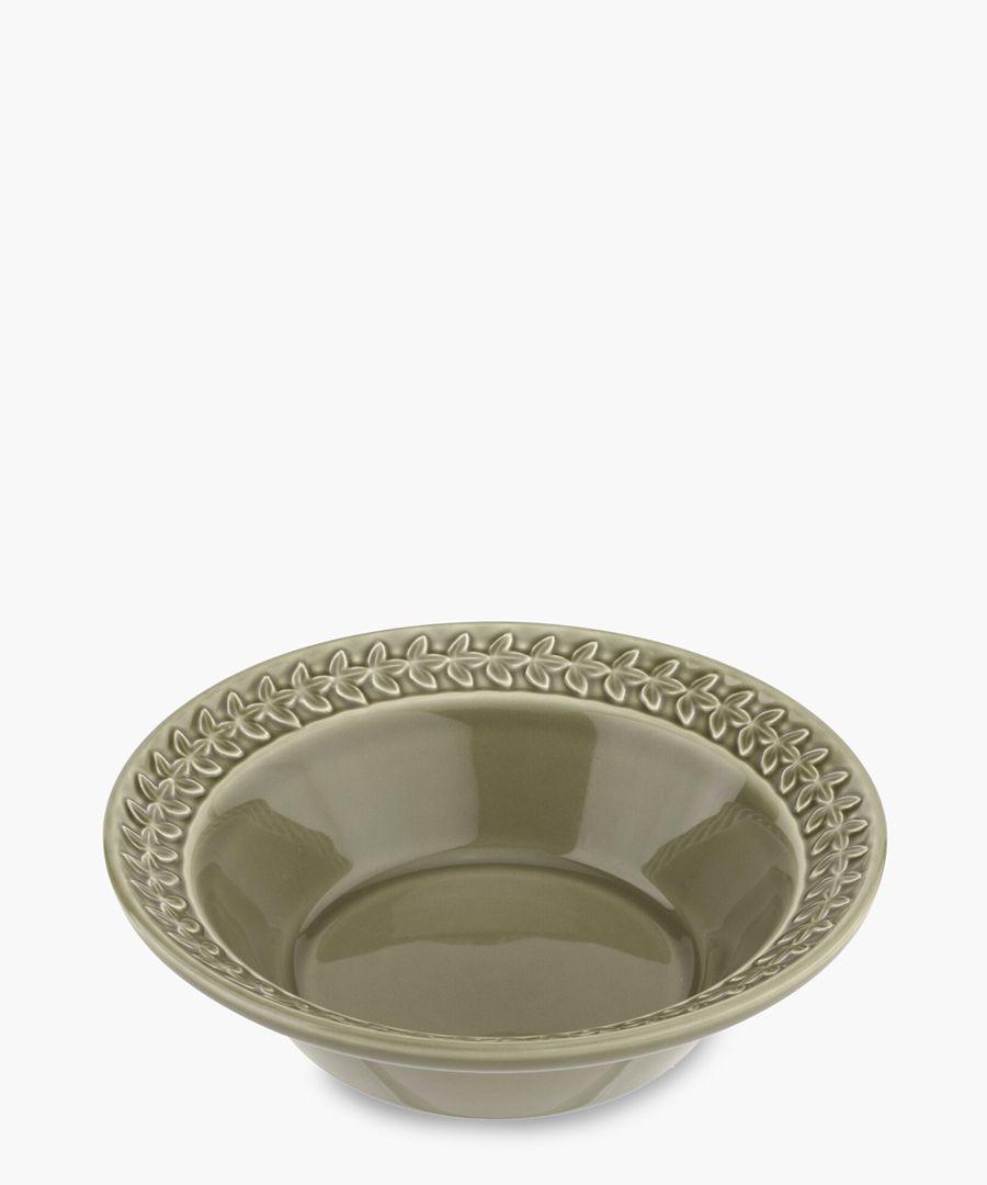 4pc Botanic Garden Harmony moss green cereal bowl set