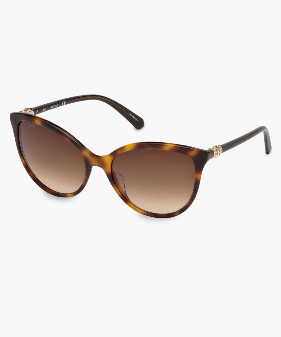 Dark havana swarovski sunglasses