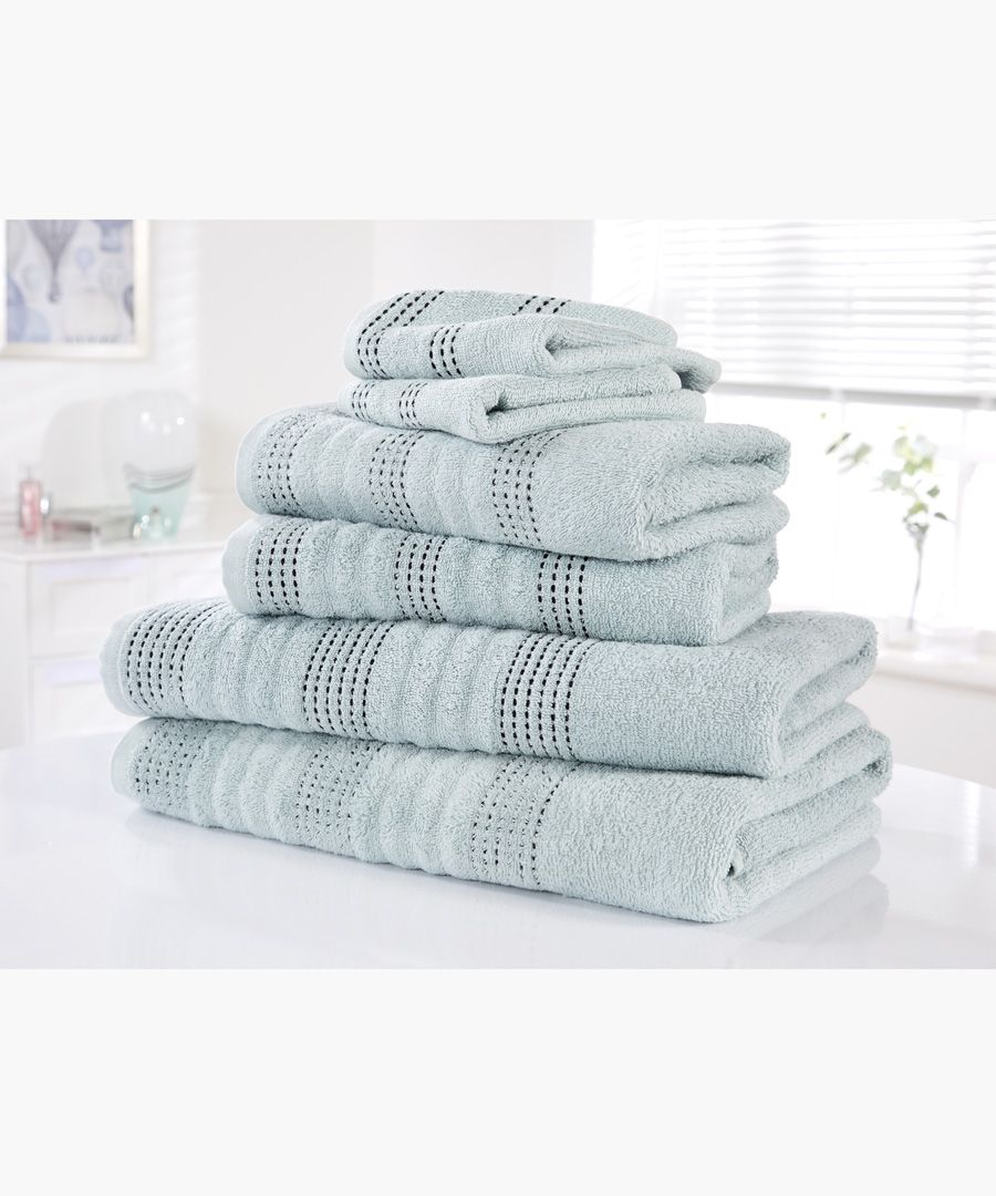 6pc Duck egg cotton towel bale set