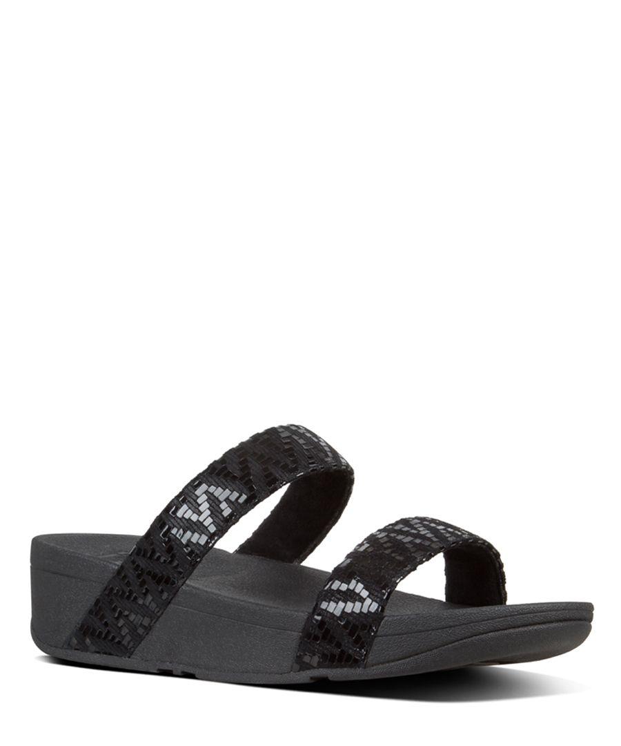 Lottie black chevron sandals