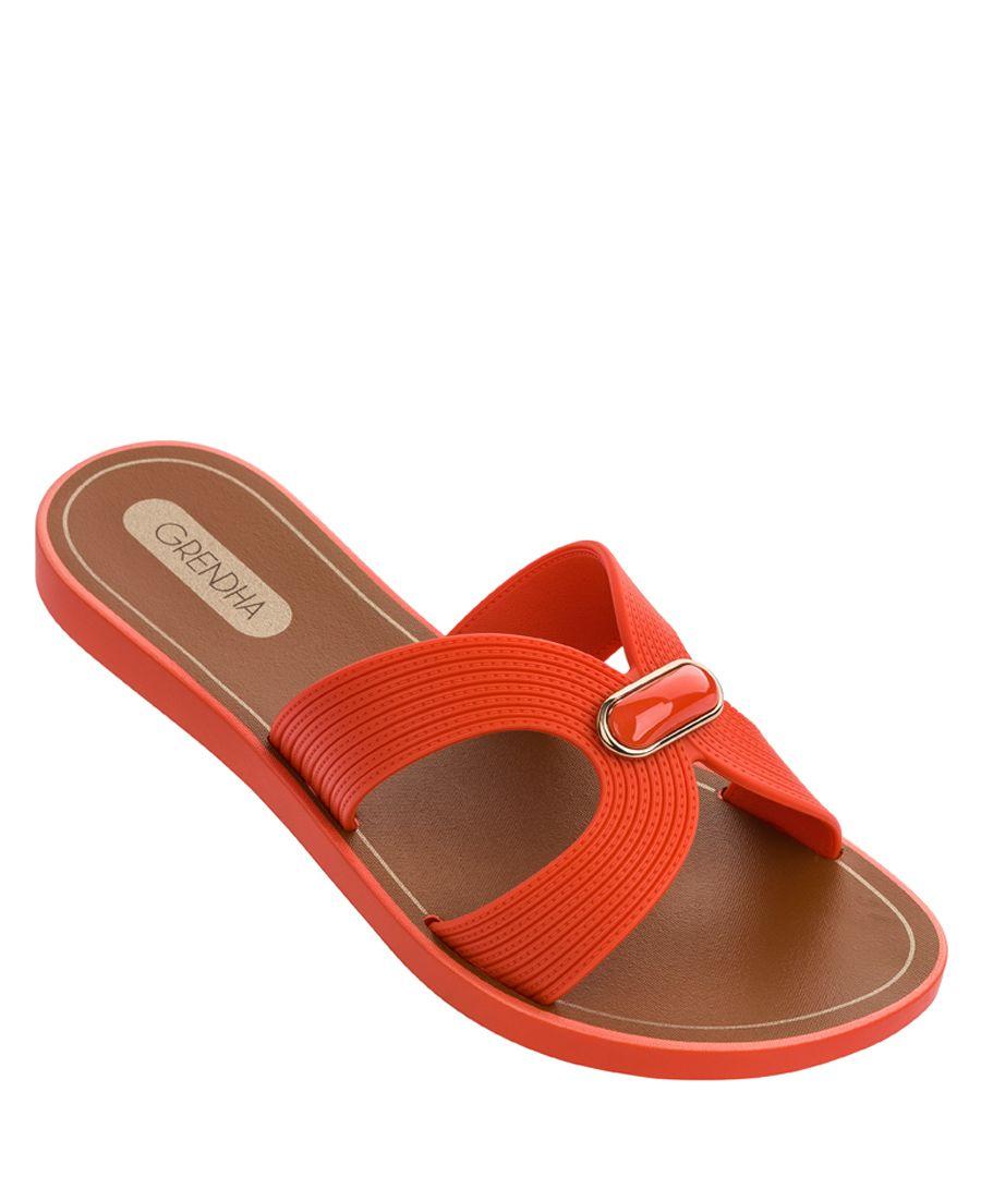 Essence orange sandals