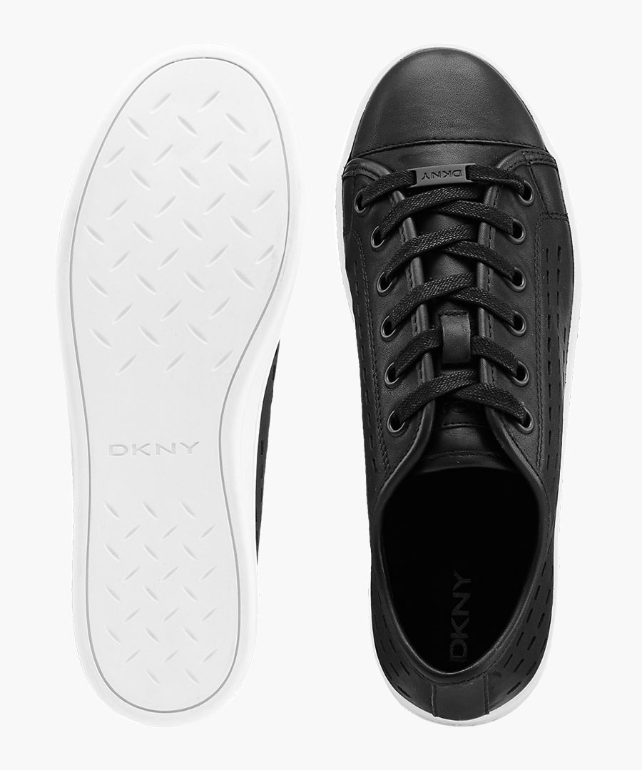 Women's Baylee black leather sneakers