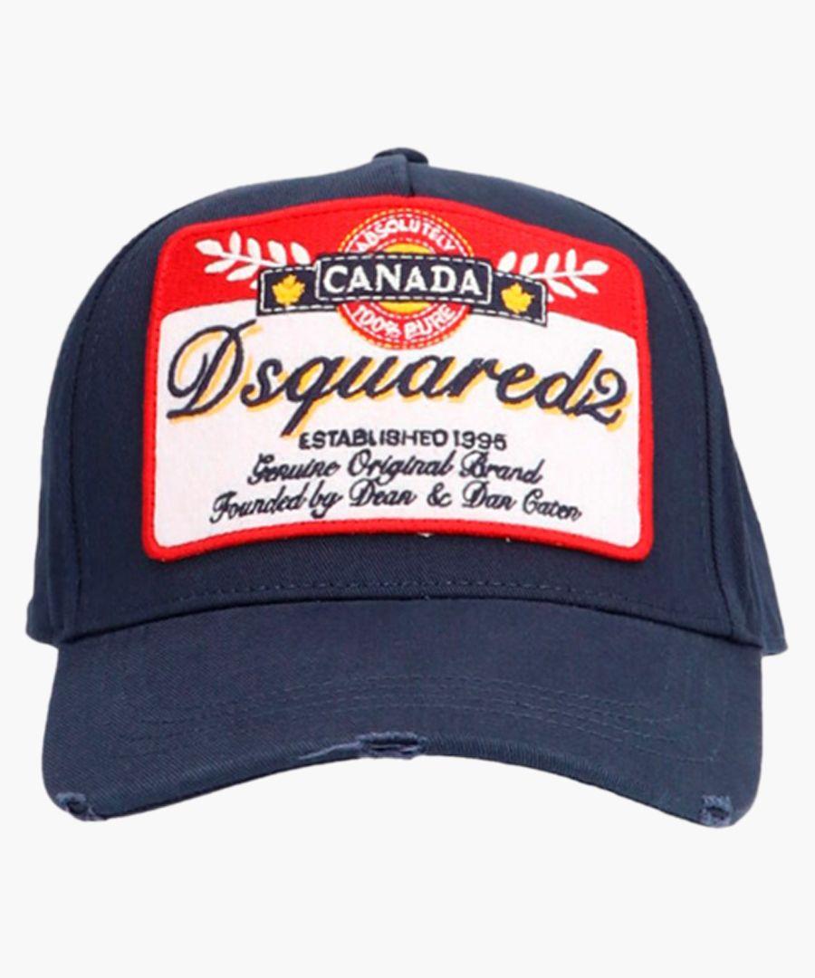 Blue cotton Canada patch baseball cap