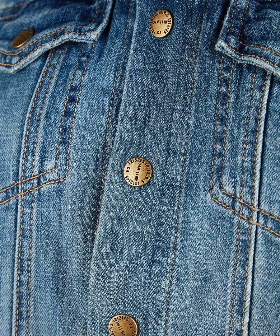 The Mechanic mid-wash denim jacket