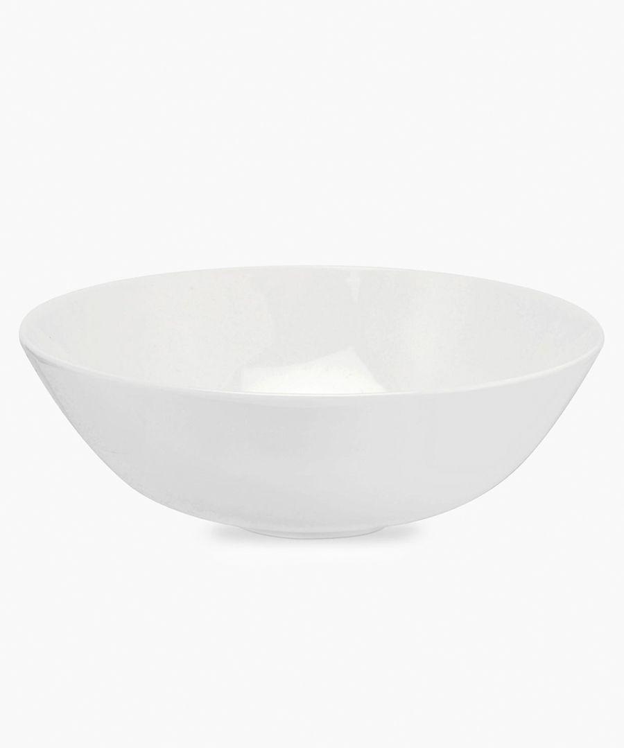 4pc Serendipity plain white bone china deep bowls