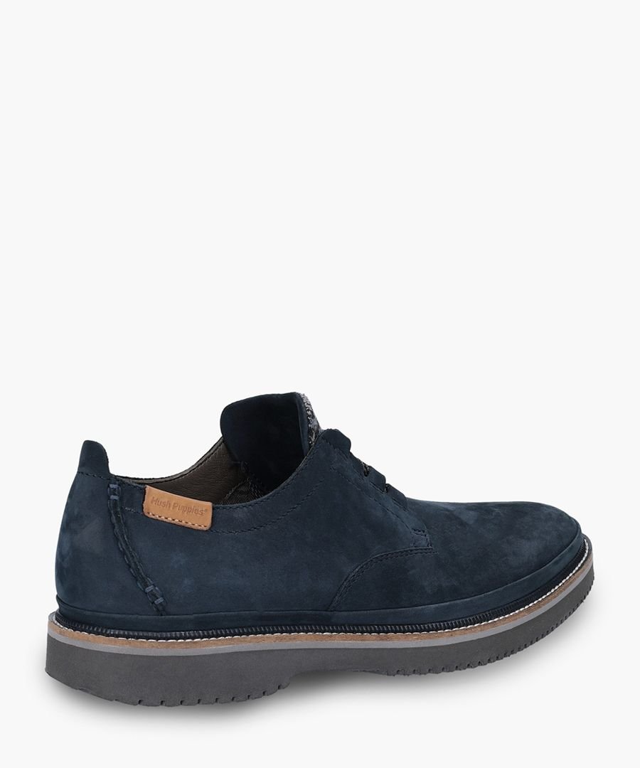 Mens navy Oxford shoes