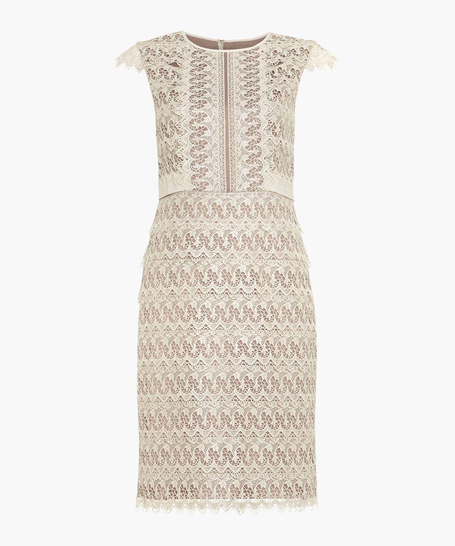 Ally ecru lace sleeveless dress