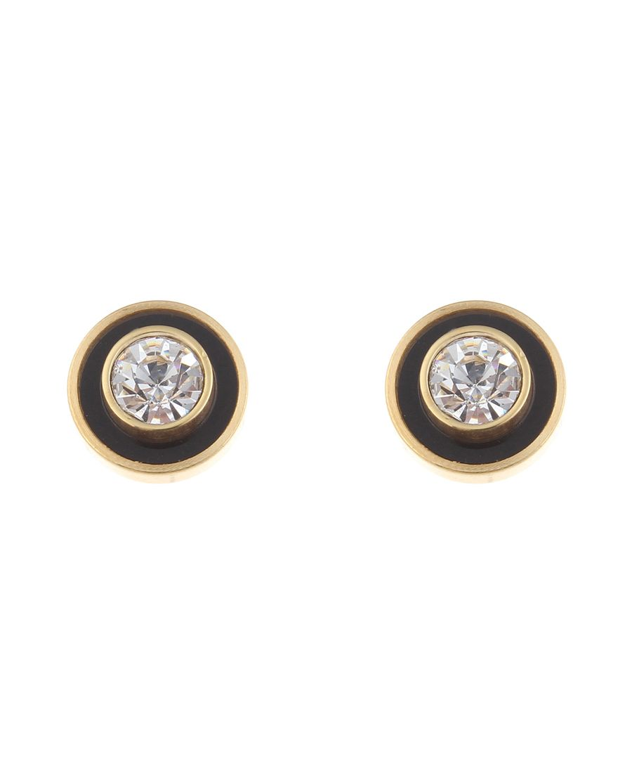 18k gold-plated onyx studs