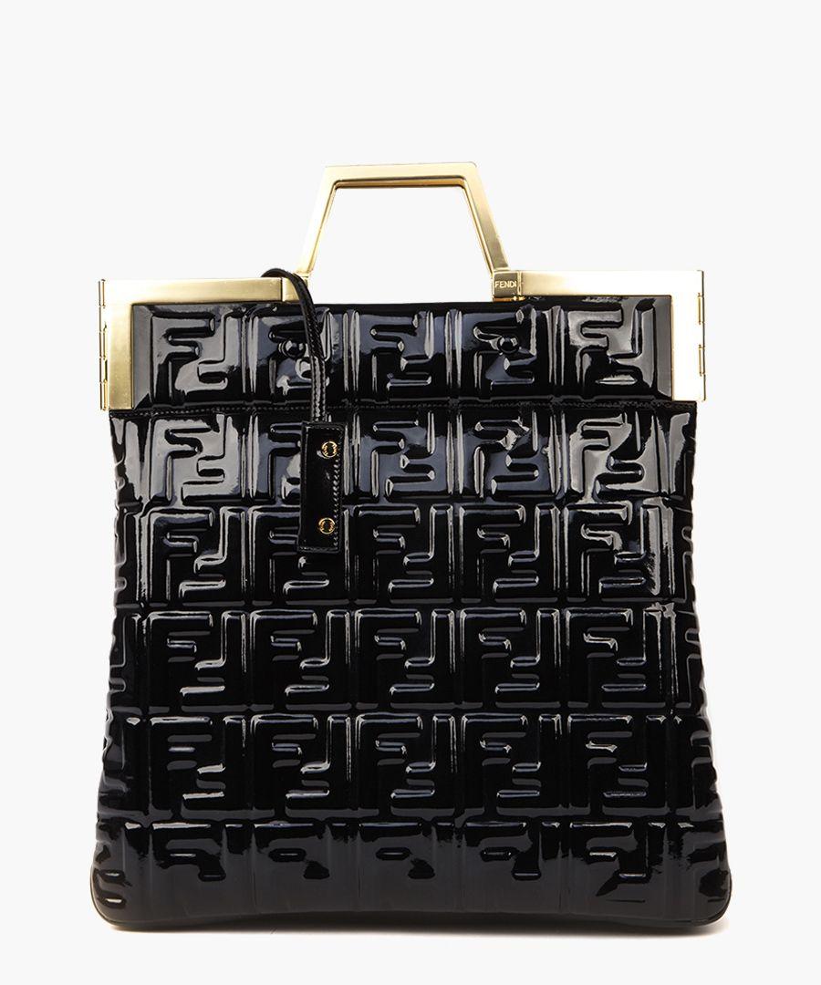 Black monogram vinyl bag