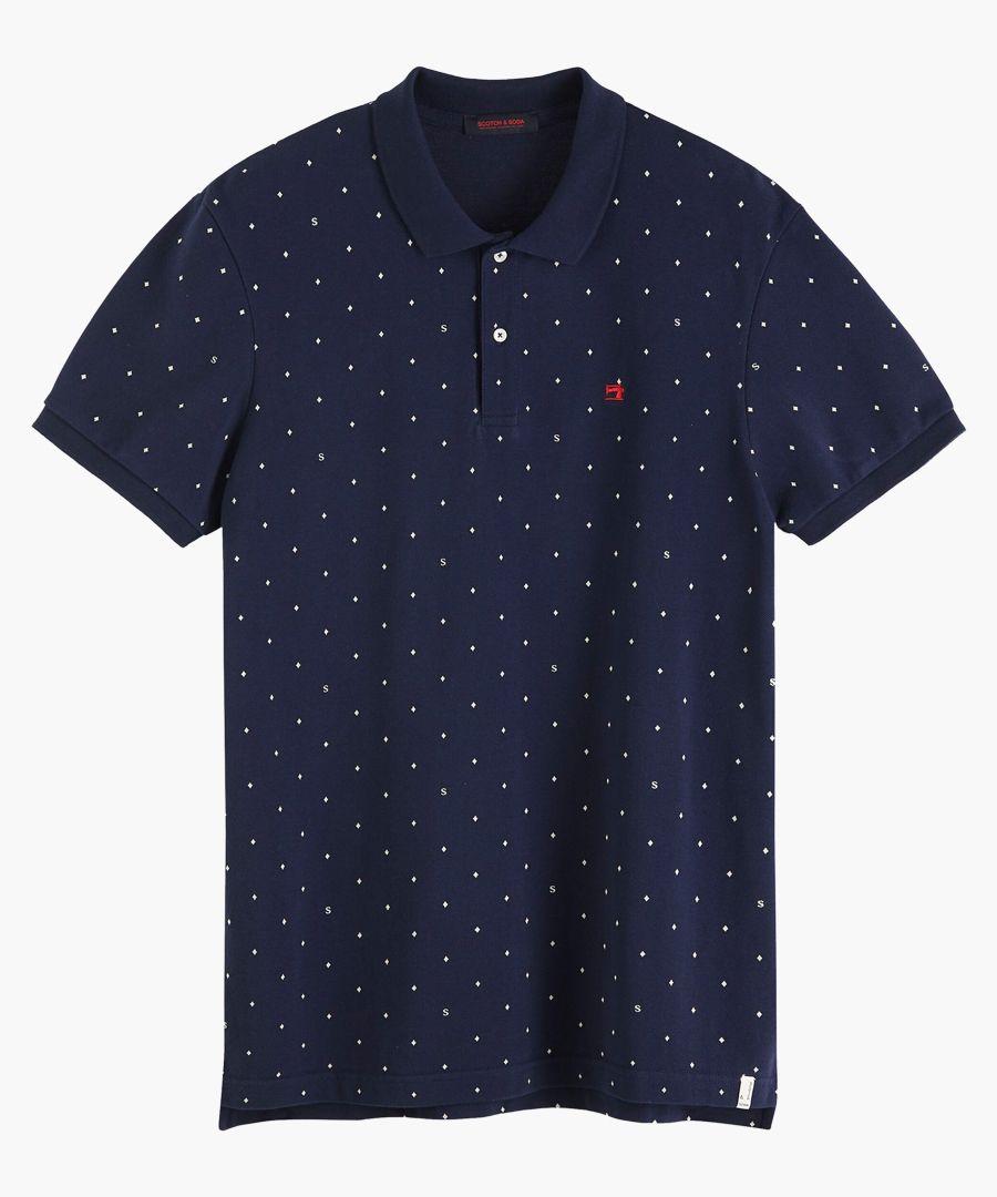 Multi-coloured cotton pique polo shirt