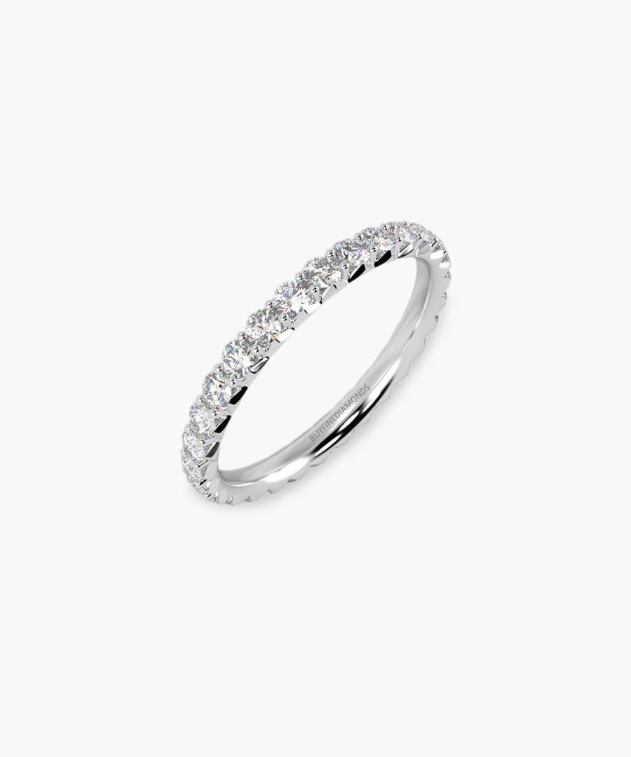 18k white gold and 1.00ct diamond ring