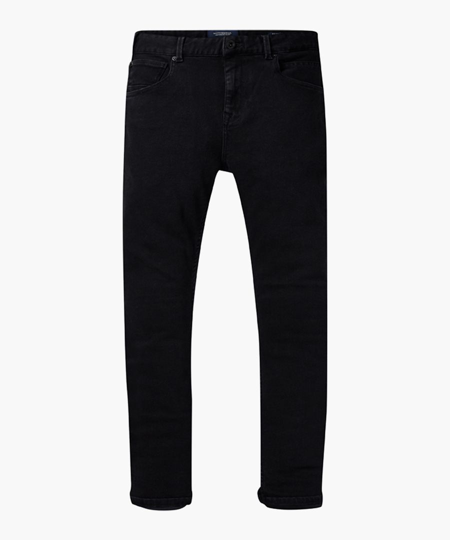 Dart black cotton super skinny jeans