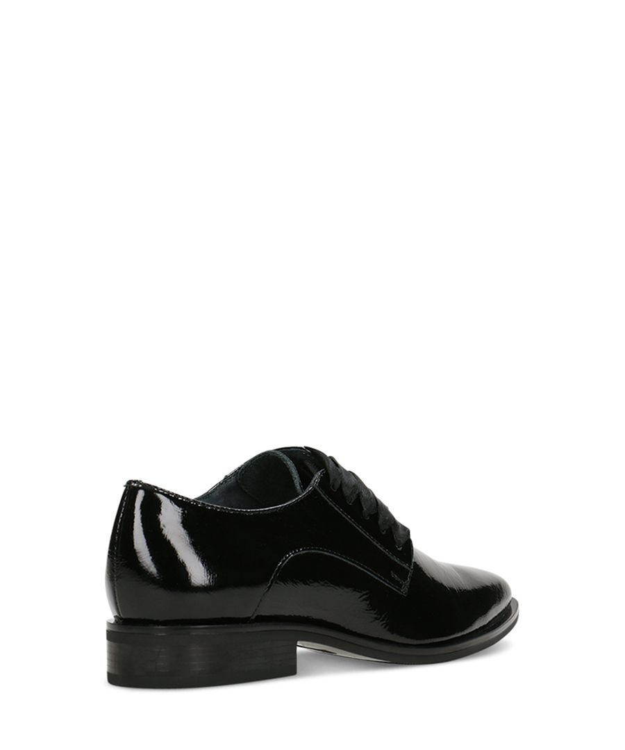 Black patent leather formal shoes
