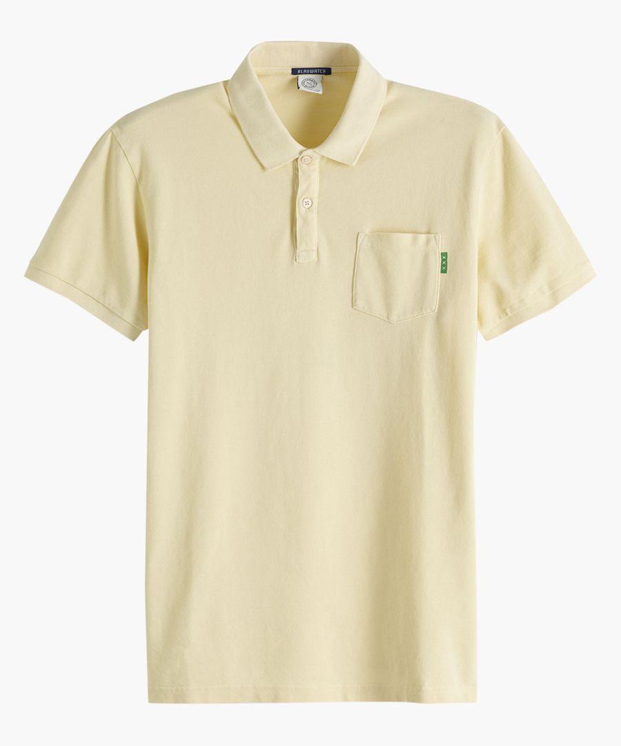 Sunbleached yellow polo shirt