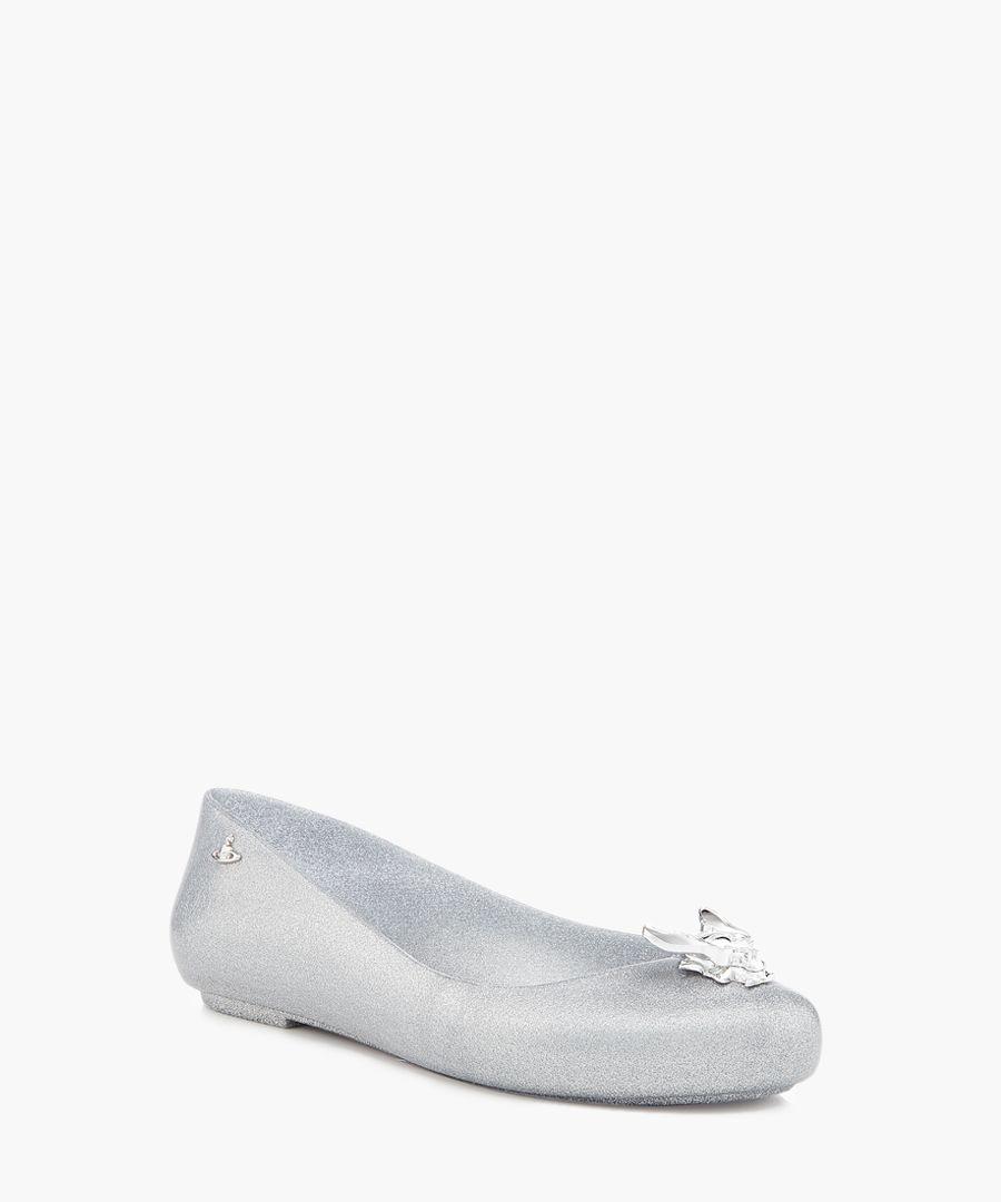 Space Love silver ballet pumps