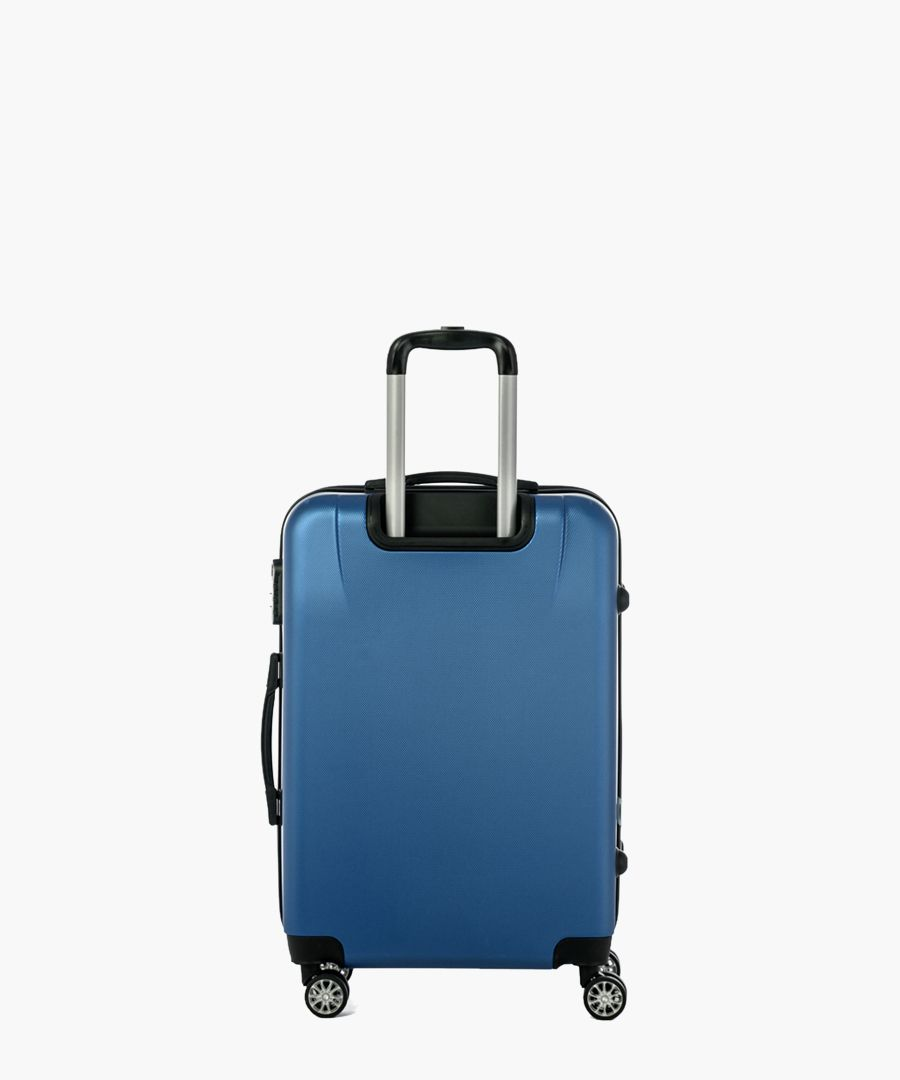 Blue spinner suitcase