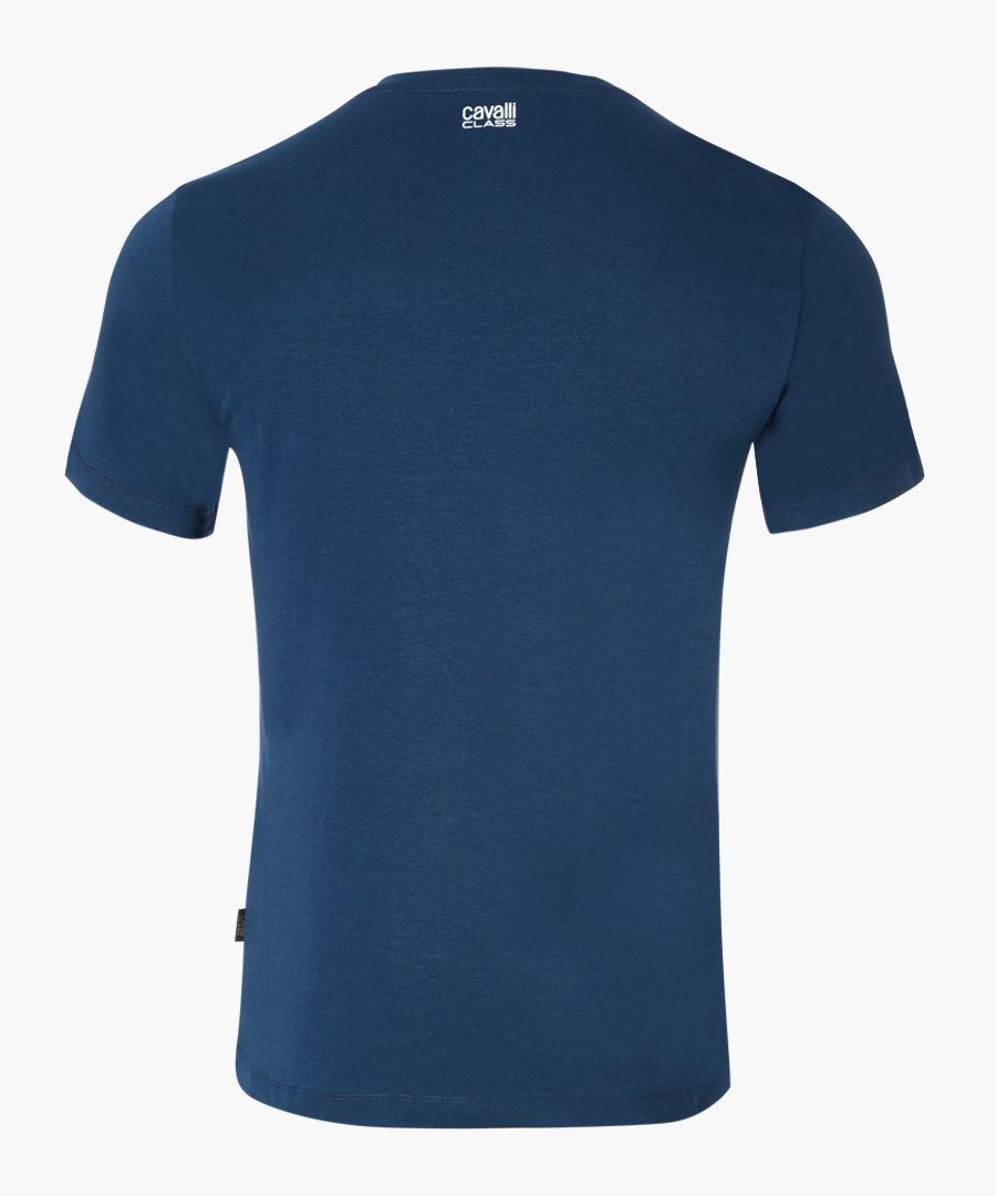 Blue logo printed T-shirt