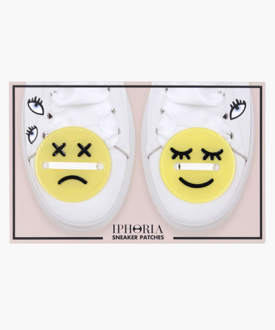 Smiley trainers patch set