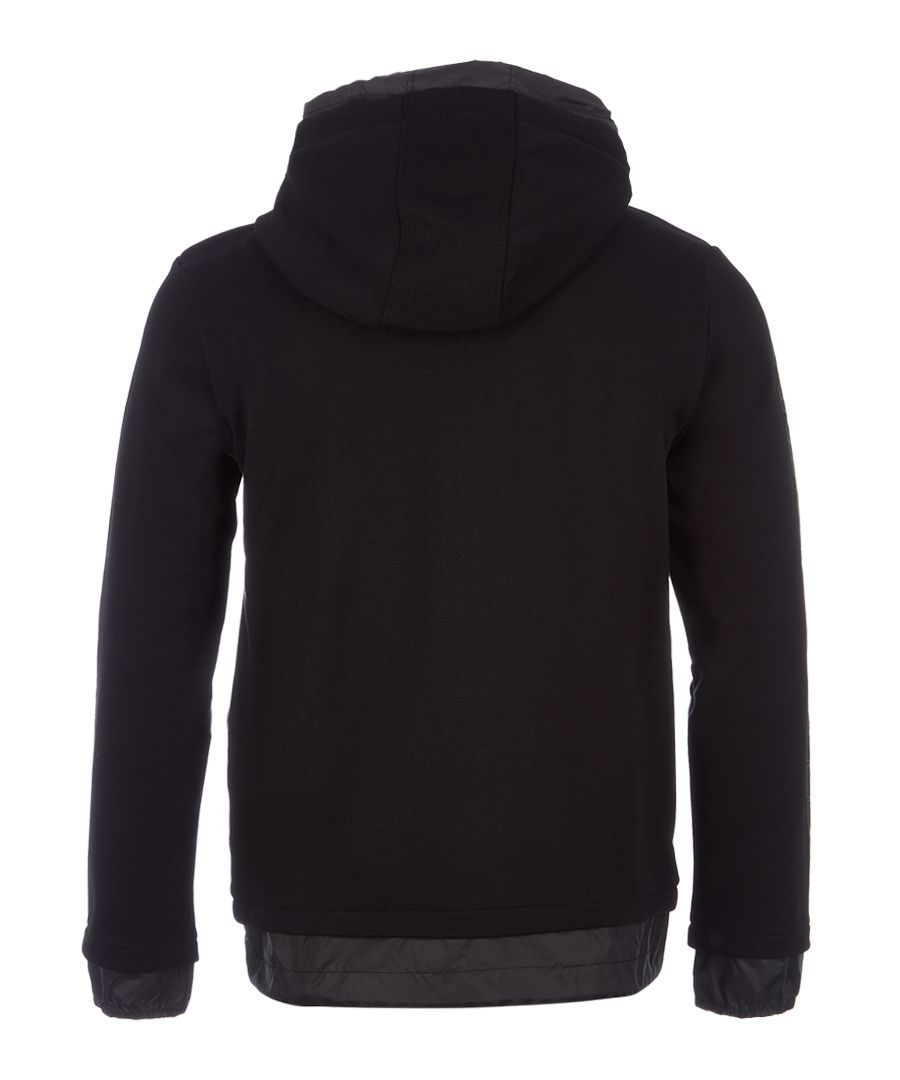 Black pure cotton full-zip hoodie