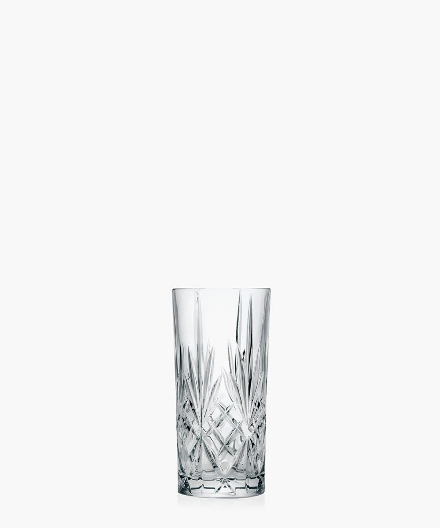 6pc Melodia Crystal hi-Ball cocktail water tumblers glasses 350ml