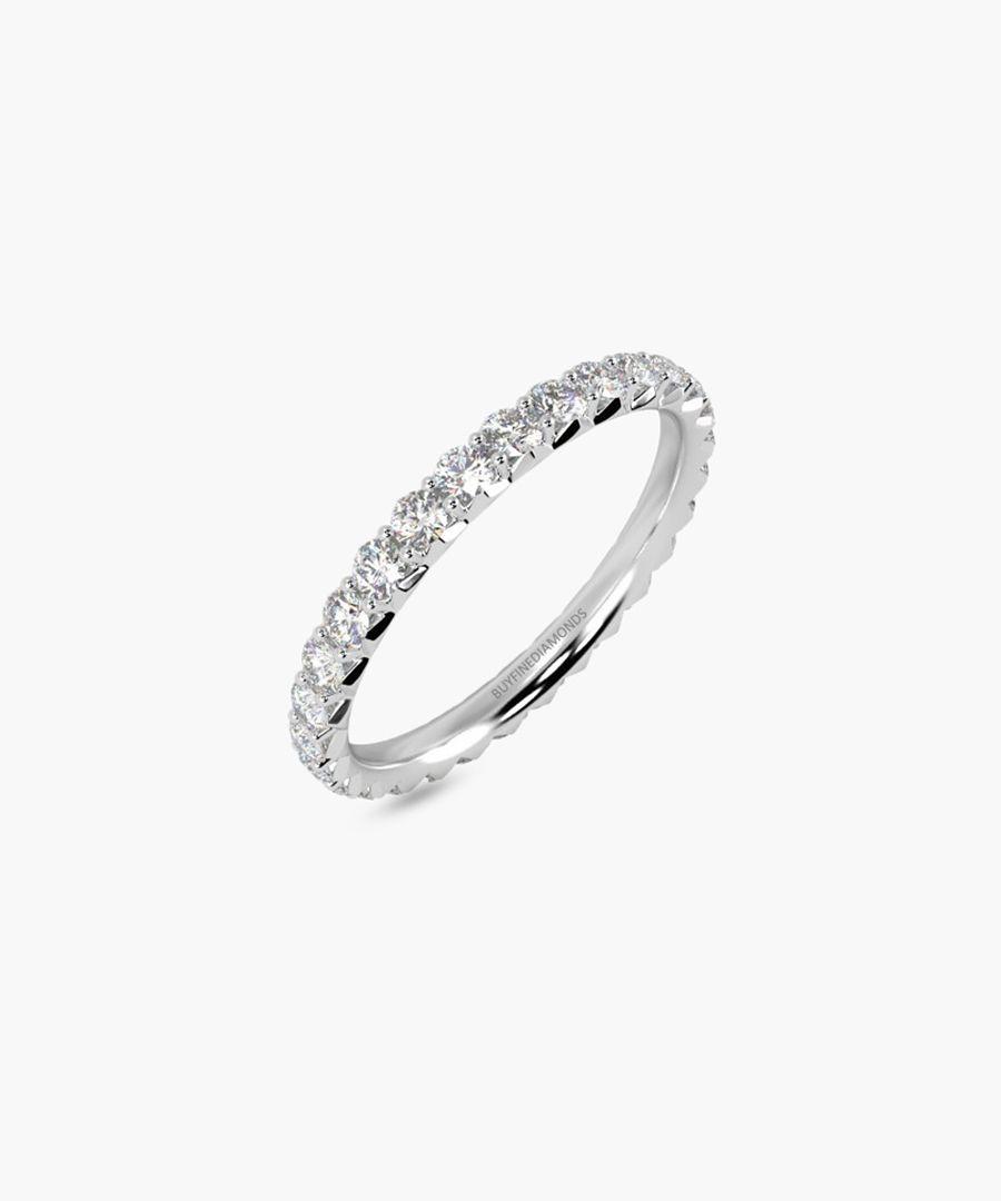 18k white gold full eternity ring